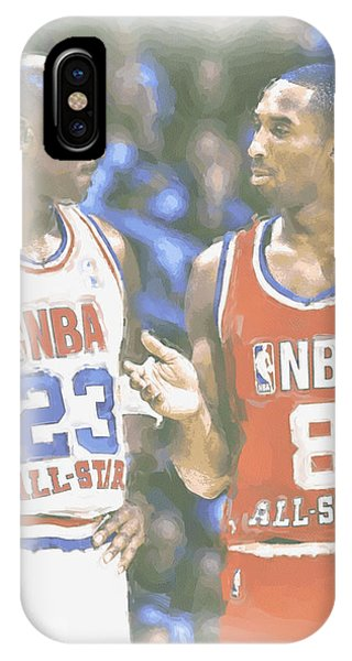 Kobe iPhone Case - Kobe Bryant Michael Jordan by Joe Hamilton