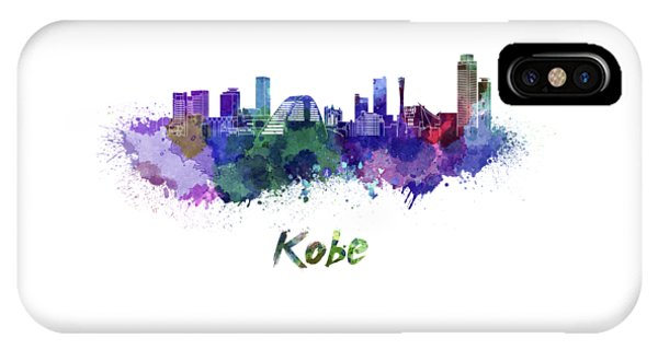 Kobe Skyline In Watercolor IPhone Case