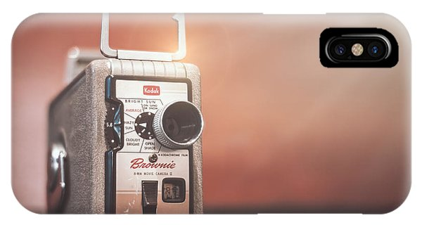 Vintage Camera iPhone Case - Kodak Brownie 8mm by Scott Norris
