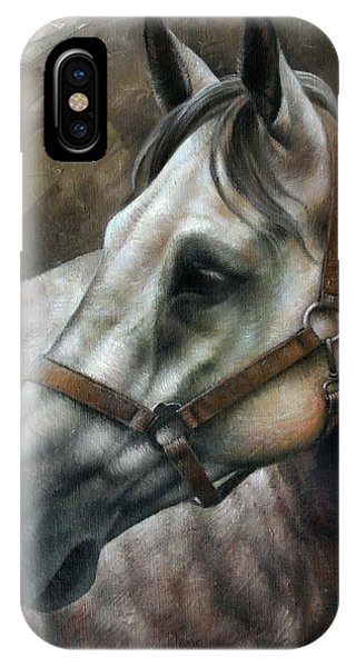 Horse iPhone X Case - Kogarashi by Arthur Braginsky