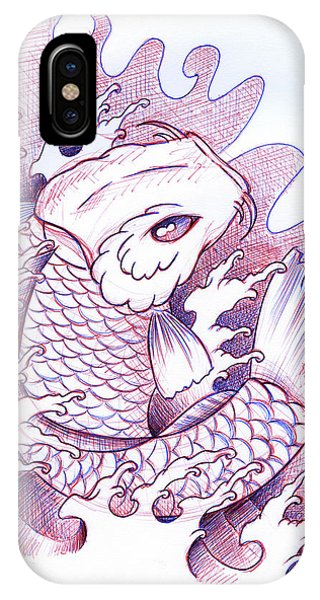 Koi iPhone Case - Koi Carp Tattoo Art by Samuel Whitton