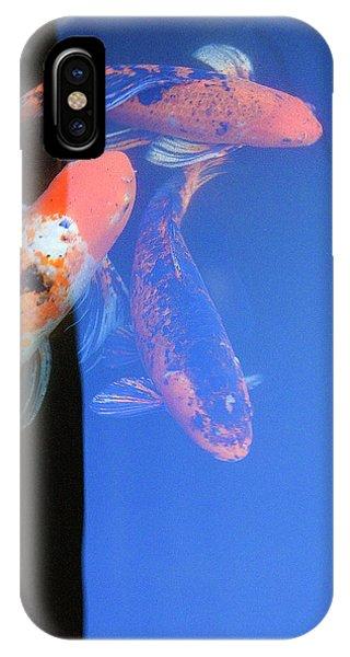 iPhone Case - Koi Vi  Blue by Ron Morecraft