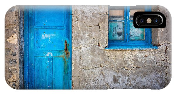 Greece iPhone Case - Kokkari Door by Inge Johnsson