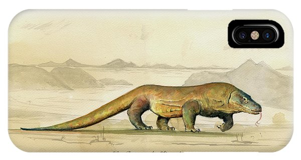 Dragon iPhone Case - Komodo Dragon by Juan Bosco