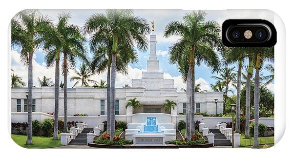 Kona Hawaii Temple-day IPhone Case