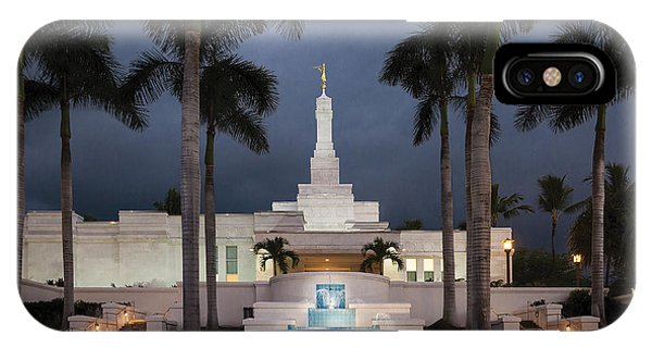 Kona Hawaii Temple-night IPhone Case