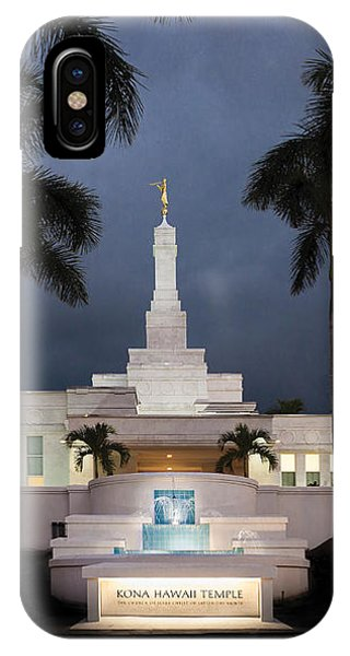 Kona Hawaii Temple-night IPhone Case