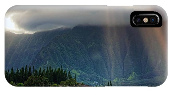 Oahu iPhone Case - Koolau Sun Rays by Dan McManus