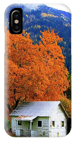 Kootenay Autumn Shed IPhone Case