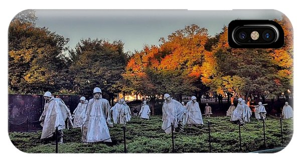 Korean War Memorial In Washington Dc IPhone Case