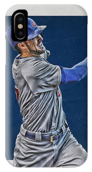Ball iPhone Case - Kris Bryant Chicago Cubs Art 3 by Joe Hamilton