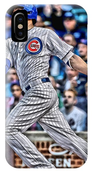 Iphone 4 iPhone Case - Kris Bryant Chicago Cubs by Joe Hamilton