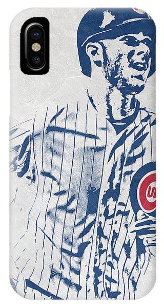 Illinois iPhone Case - kris bryant CHICAGO CUBS PIXEL ART 2 by Joe Hamilton