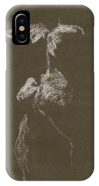 Kroki 1997, Pre.3 Vit Krita, Figure Drawing White Chalk IPhone Case