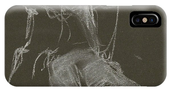 Kroki-2015-04-11-figure-drawing-white-chalk-marica-ohlsson-marica-ohlsson IPhone Case