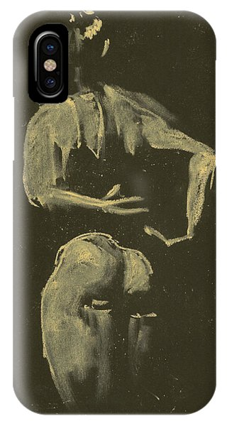 kroki 2014 09 27_4 figure drawing white chalk Marica Ohlsson IPhone Case