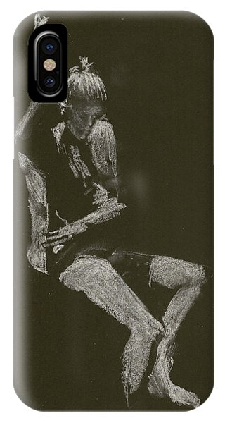 Kroki 2014 10 04_12 Figure Drawing White Chalk IPhone Case