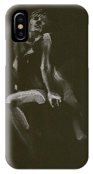 Kroki 2014 10 18_3 Figure Drawing White Chalk IPhone Case