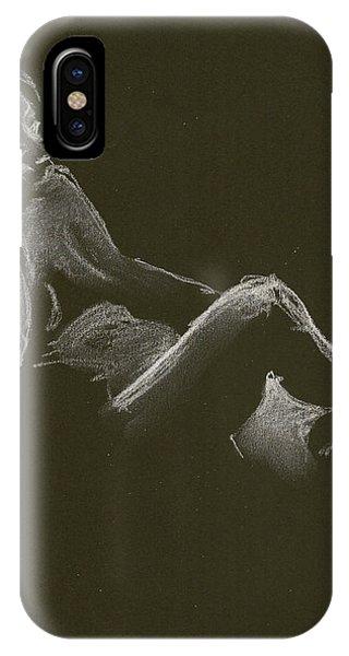 Kroki 2014 12 27_3 Figure Drawing White Chalk IPhone Case