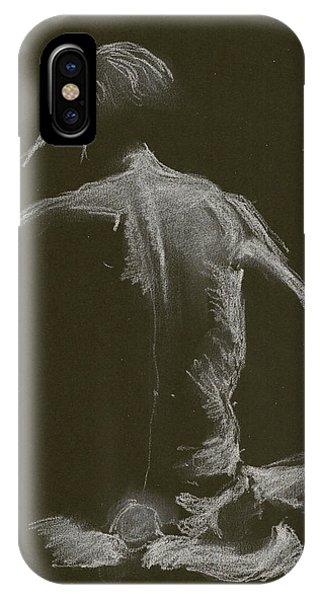 Kroki 2015 01 10_14 Figure Drawing White Chalk IPhone Case