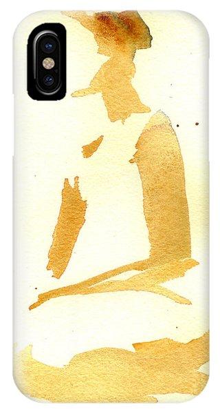 Kroki 2015 03 28_29 Maalarhelg 3 Akvarell Watercolor Figure Drawing IPhone Case