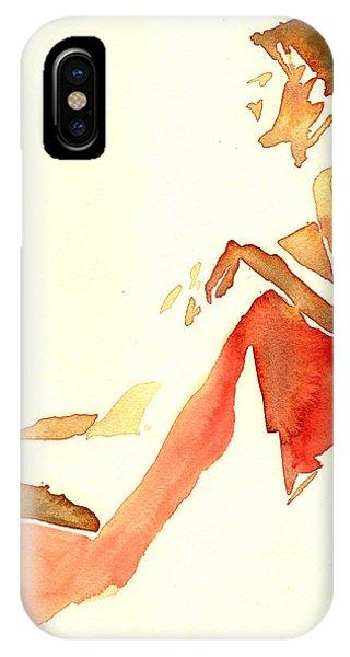 Kroki 2015 03 28_29 Maalarhelg 4 Akvarell Watercolor Figure Drawing IPhone Case