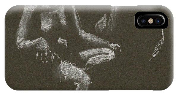 Kroki 2015 04 25 _3 Figure Drawing White Chalk IPhone Case