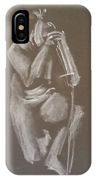 Kroki 2015 06 18_4 Figure Drawing Chinese Sword White Chalk IPhone Case