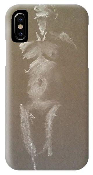 Kroki 2015 06 18_6 Figure Drawing White Chalk IPhone Case