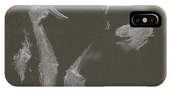 Kroki 2015 10 03_10 Figure Drawing White Chalk IPhone Case