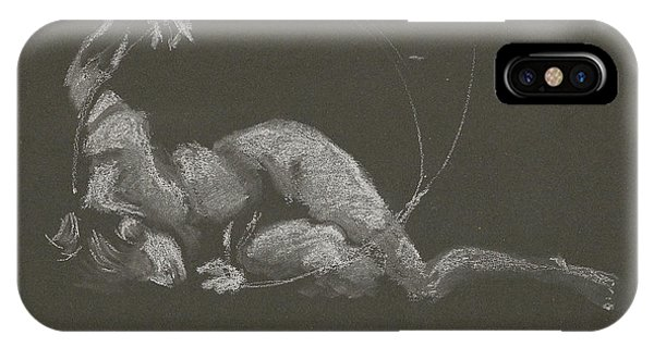 Kroki 2015 10 03_14b Figure Drawing White Chalk IPhone Case