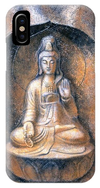 Buddhism iPhone Case - Kuan Yin Meditating by Sue Halstenberg