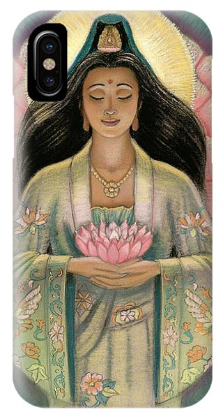 Kuan Yin Pink Lotus Heart IPhone Case