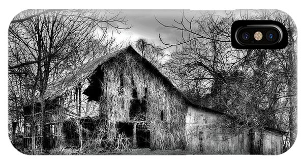 Kudzu Covered Barn In The Mississippi Delta IPhone Case