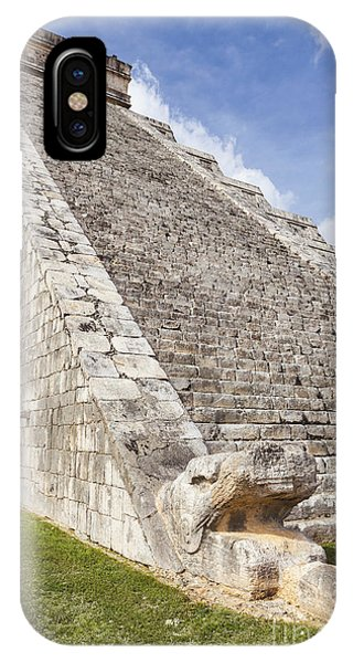 IPhone Case featuring the photograph Kukulkan Pyramid At Chichen Itza by Bryan Mullennix