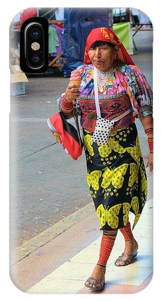 Kuna Woman Shopping IPhone Case