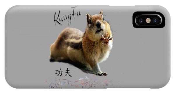 Kung Fu Chipmunk IPhone Case