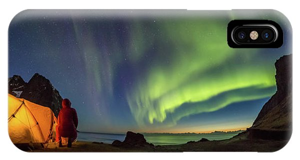 Kvalvika Under The Lights IPhone Case