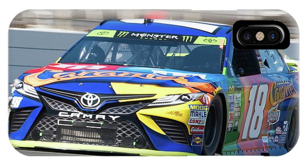 Kyle Busch Coming Out Of Turn 1 IPhone Case