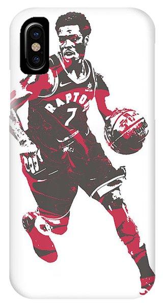 Tickets iPhone Case - Kyle Lowry Toronto Raptors Pixel Art 60 by Joe Hamilton
