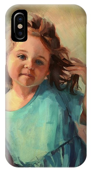 Abstract Figurative iPhone Case - Kymberlynn by Steve Henderson