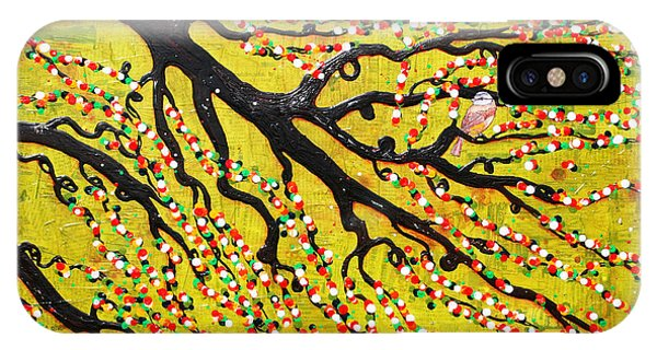 IPhone Case featuring the mixed media Kyoto Blossoms by Natalie Briney