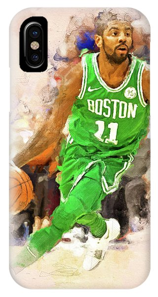 Kyrie Irving iPhone Case - Kyrie Irving, Boston Celtics - 01 by Andrea Mazzocchetti