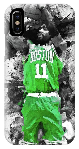 Kyrie Irving iPhone Case - Kyrie Irving, Boston Celtics - 05 by Andrea Mazzocchetti