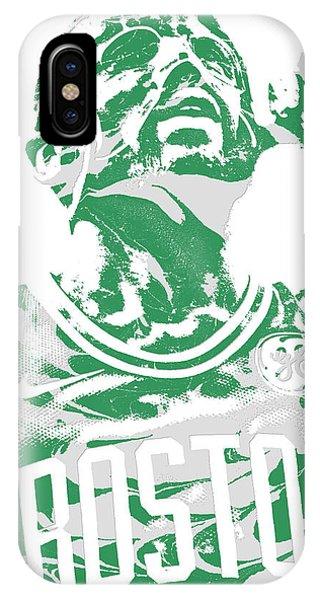 Celtics iPhone Case - Kyrie Irving Boston Celtics Pixel Art 41 by Joe Hamilton