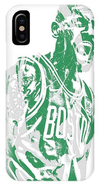 Celtics iPhone Case - Kyrie Irving Boston Celtics Pixel Art 42 by Joe Hamilton