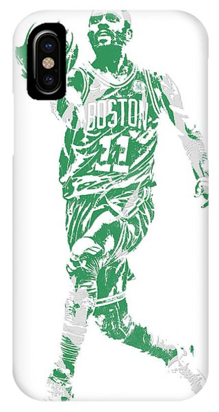 Celtics iPhone Case - Kyrie Irving Boston Celtics Pixel Art 43 by Joe Hamilton