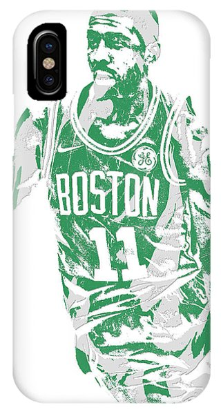 Celtics iPhone Case - Kyrie Irving Boston Celtics Pixel Art 6 by Joe Hamilton