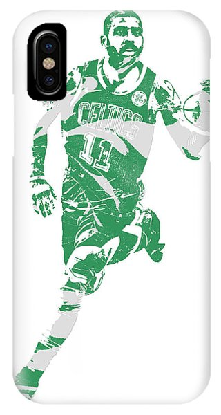 Kyrie Irving iPhone Case - Kyrie Irving Boston Celtics Pixel Art 60 by Joe Hamilton