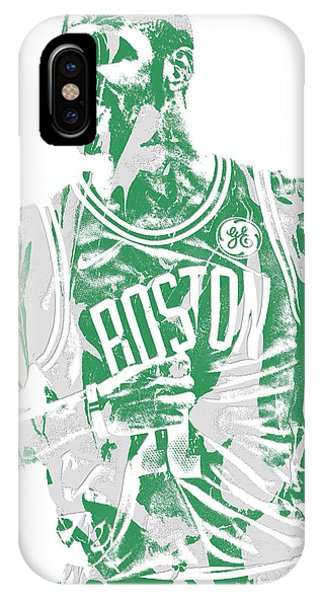 Kyrie Irving iPhone Case - Kyrie Irving Boston Celtics Pixel Art 7 by Joe Hamilton